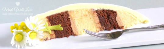 Daisies and Buttercups Easter Egg Cake Slice