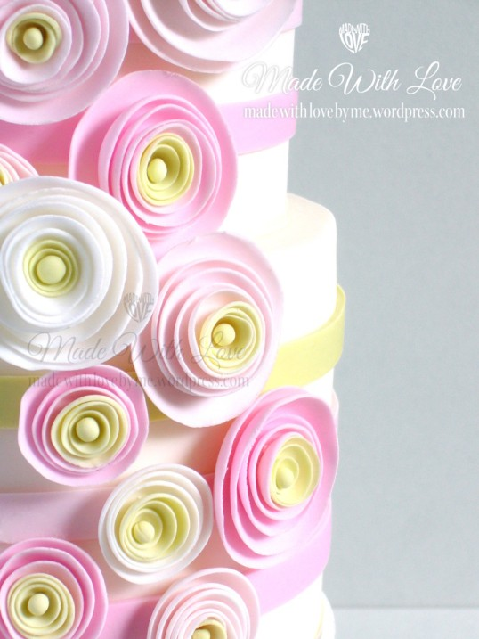 Pretty Pastels Cake Close Up
