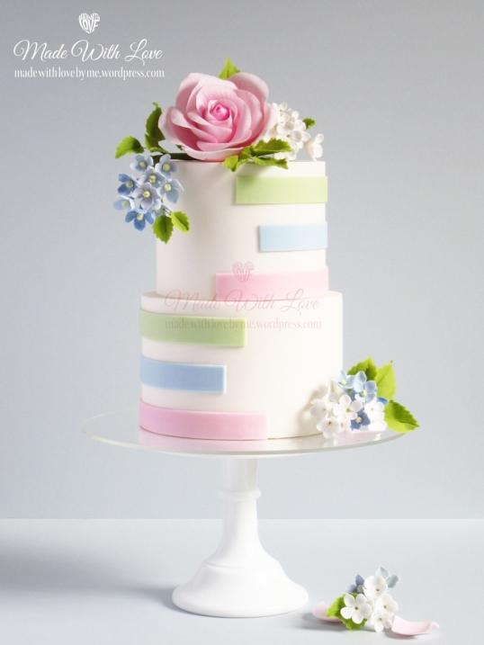 Pastel Stripes Cake